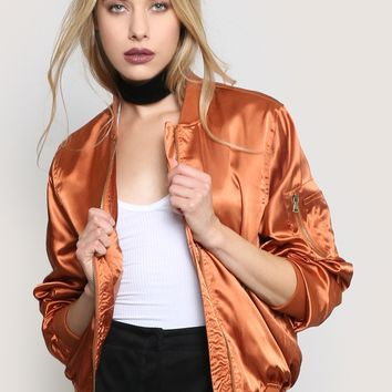 SHINE ON BOMBER JACKET - COPPER