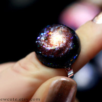 Galaxy ring, Hubble M101 spiral galaxy Stardust Ring Unique Resin Space Explorer Hubble Jewelry Out of this World Fashion Statement