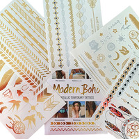 Tribal Collection Metallic Tattoos Gold and Silver Flash By Modern Boho