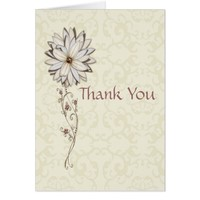 Thank You for Gifts with Elegant Flower Design Card