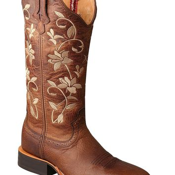Twisted X Women's Floral Ruff Stock Cowgirl Boot Square Toe - Wrs0025