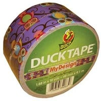 Retro Owls Duck® brand Duct Tape 1.88 in. x 10 yds
