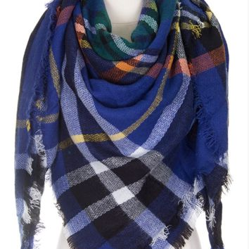 Blanket Scarf- Blue