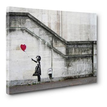 """Banksy, """"There Is Always Hope""""  24"""" x 18"""" x 0.75"""" Canvas Gallery Wrap Print"""
