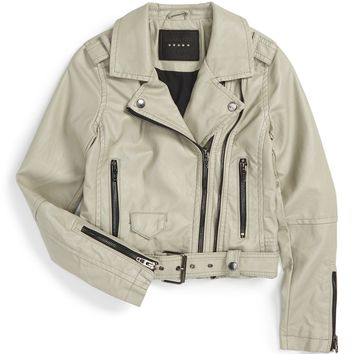 BLANKNYC Faux Leather Moto Jacket (Big Girls) | Nordstrom