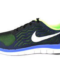 Nike Men's Free 4.0 2015 Black/Blue Running Shoes 717988 043