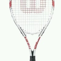 Wilson Federer Adult Tennis Racket Over-sized Head Power Strings ARC Tech 4 3/8
