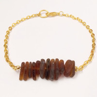 Brown Hawaiian Sea Glass Bracelet