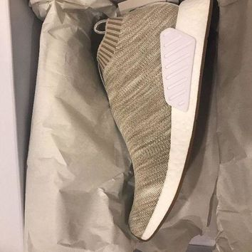 ESBON8Y adidas Consortium x Kith x Naked NMD City Sock 2 In Sandstone Size 11.5
