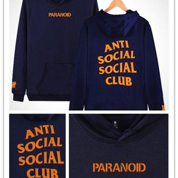 ONETOW Anti social club the new fall undefeated men's Sweater Hoodie [10469373315] F