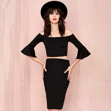 Sexy Tops Skirt Bandages Dress Women's Fashion Bottom & Top [4920347012]