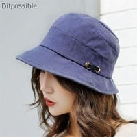 Ditpossible 2018 new spring summer hats women fashion bucket hat panama fishing cap