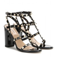 Rockstud patent leather sandals