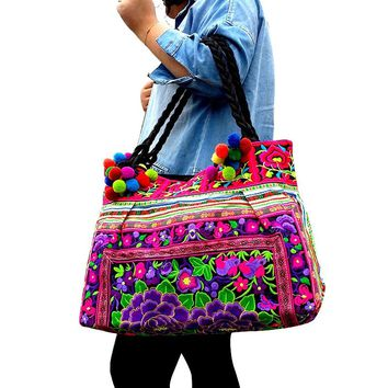 Bohemian Noah Embroidered Handbag