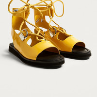 E8 by Miista Avoca Yellow Tie-Up Sandals | Urban Outfitters