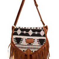 Cher Fringe Purse - One Size / Brown