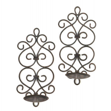 Black Iron Candle Wall Sconces