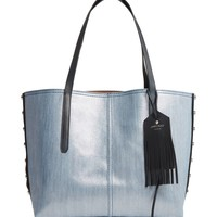 Jimmy Choo Twist East West Denim & Leather Tote | Nordstrom