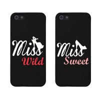 BFF Phone Covers Miss Wild and Miss Sweet Matching Phone Cases for Iphone 5 5s Gift for Best Friends