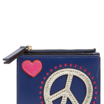Tory Burch Peace & Love Mini Leather Wallet | Nordstrom