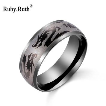 Men's Cool Stainless Steel Gothic Wholes Dragon Ring For Man Fashion Jewelry