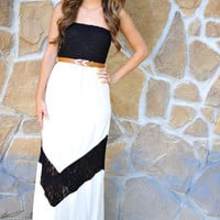 Elevate Your Life Maxi Dress: Ivory | Hope's
