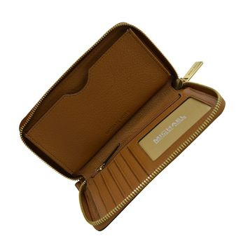 Michael Kors Fulton Leather Large Flat Multifunction Phone Case Acorn