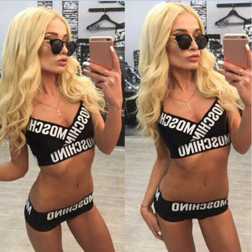 Swimsuit Summer Beach New Arrival Hot Stylish Sexy Alphabet Swimwear Bikini [7767320455]