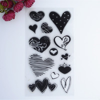 2016 New Scrapbook DIY Photo Album Cards Transparent Acrylic Silicone Rubber Clear Stamps Sheet Love