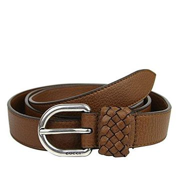 Gucci Men's Leather Orval Buckle Wrap Belt 336828