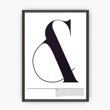 Design poster-Modern print-Typography Wall Art -Typographic print -Ampersand print-Modern design-Wall art-Wall print-Home decor-Office decor