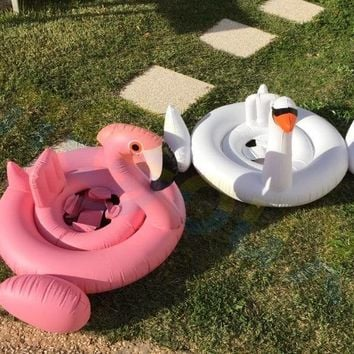 Swimming circles Float baby Seat Inflatable swan Pool Float Water beach Pool Toys Summer children Lifebuoy Kids Swimming rings