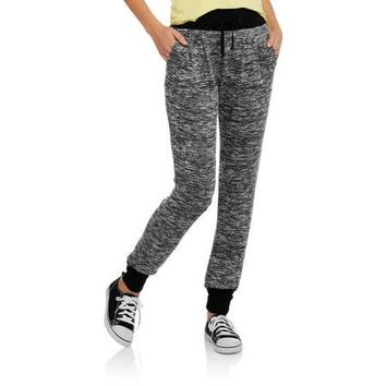 No Boundaries Juniors French Terry Hacci Jogger - Walmart.com