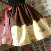 Winnie The Pooh Dress, Skirt, Womens Full Unique Skirt, Unique Clothing, ROOBYS