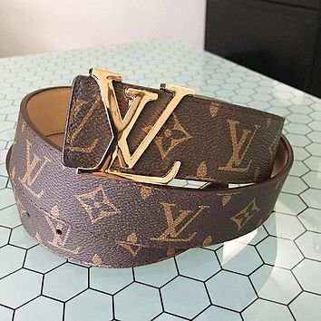 Louis Vuitton LV Classic Hot Sale Girls Boys Leather Belt