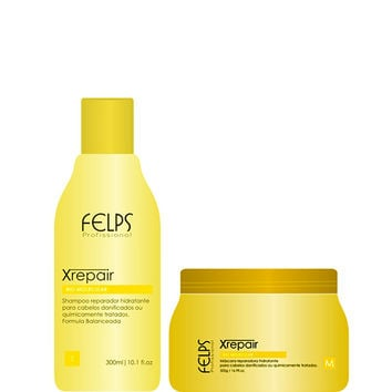 HAIR HYDRATING KIT FELPS X REPAIR SHAMPOO AND MASK 300ml 500g 19,9 fl.oz.