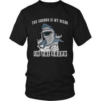 BJJ T Shirt -  The ground is my ocean I'm the shark