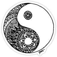 'Tangled Yin Yang' Sticker by julieerindesign