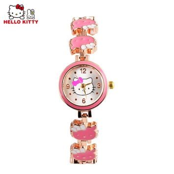 Kids Hello Kitty Watches Children Cartoon Watch Children's Watches For Girls Cute Baby Watch Baby Clock relogio infantil reloj