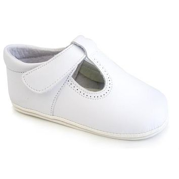 Classic Leather T-Strap Mary Janes Easy Open Shoes
