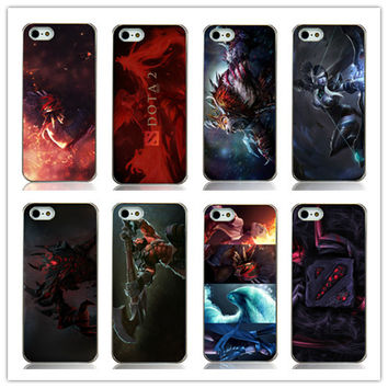 dota 2 game printed white plastic Hard Back Case Cover for Iphone 5 5s 5G Free shipping