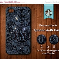 20% SALE Personalized iPhone 4 Case - Plastic iPhone case - Rubber iPhone case - Monogram iPhone case - iPhone 4s case - MC112