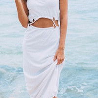 White Siamese Sling Beach Dress