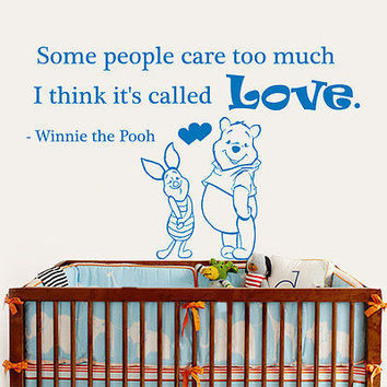 Quote Wall Decals Winnie The Pooh Vinyl Some People Decal Nursery Room Art MR343