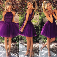 Purple Homecoming Dresses