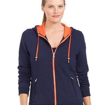Lauren Ralph Lauren Plus Quilted Full Zip Hoodie