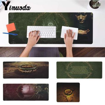 Yinuoda Non-Skid Rubber Pad The Lord of The Rings Office Mice Gamer Mouse Pad Size for 180*220 200*250 300*900 and 400*900*2mm