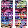 Tribal Pattern Ankle Socks