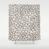 A Lot of Cats Shower Curtain by Kitten Rain