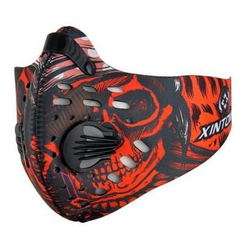 Xintown Cycling Face Mask Bicycle Training Mask Sports Face Mask For Training Anti-Pollution Carbon Filter Half Face Cover
